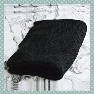 Zara Black Knit Infinity/Circle Scarf